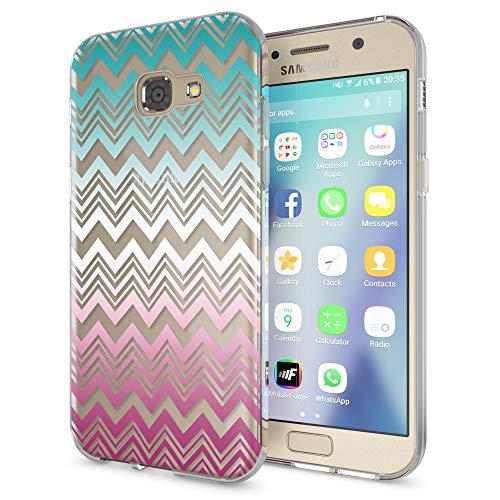 NALIA Handyhülle kompatibel mit Samsung Galaxy A5 2017, Slim Silikon Motiv Case Cover Schutz-Hülle Dünn Durchsichtig Etui Handy-Tasche Backcover Transparent Bumper, Designs:Colorful Lines (Samsung Galaxy A5 Slim Case)