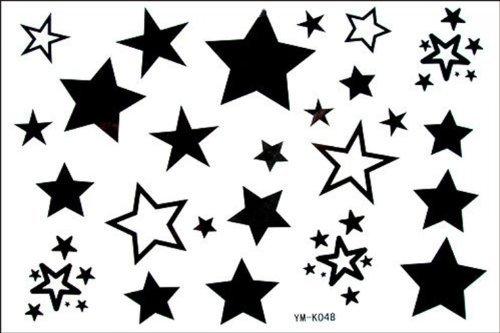Moda maschile e femminile finti tatuaggi stelle stagne stella tatuaggio falso