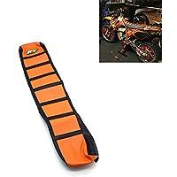 Asiento de la motocicleta agarre suave cubierta de la motocicleta para KTM 65 85 125 200 250 300 400 450 525 SX EXC MXC 03-07 naranja/negro