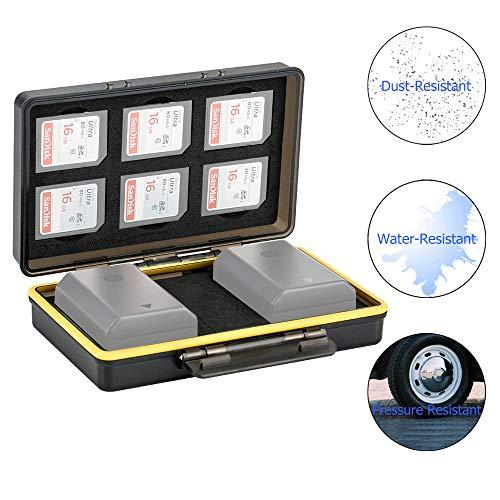 JJC Estuche Tarjeta SD 6 tarjetas SD 2 ranuras baterías