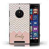 eSwish Personnalisé Chevron Rayures Écriture Personnalisée Coque pour Nokia Lumia...