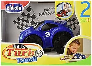 Chicco - Turbo Touch, Fast Blue, Coche de Cuerda (00061780000000)
