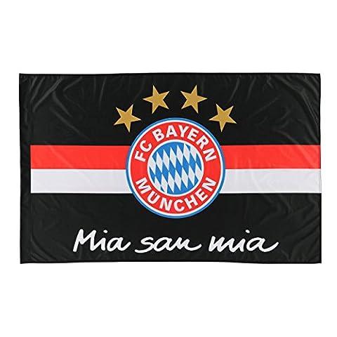 FC Bayern Munich Flag 150x 100cm Black/Red/White with Free Badge Munich Forever,/Rapeau/bandera Flag, Flag,