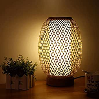 lampe de bureau bambou fait main japonais petite lampe de. Black Bedroom Furniture Sets. Home Design Ideas
