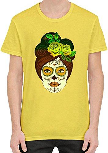 Männer T-Shirt XX-Large (Sugar Skull-männer-make-up)