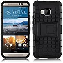 Cover HTC One M9, JAMMYLIZARD Custodia Heavy Duty ALLIGATOR in Silicone TPU e Polimero per HTC One M9, NERO