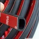 HOTSYSTEM 5M Auto Türschutz Kantenschutz Rammenschutz Türrammschutz Zierleiste Gummi Schutzleiste D Form