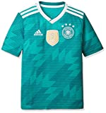 adidas Kinder Dfb Away Jersey 2018 Trikot, grün (eqt green s16/White/Real teal s10), 140