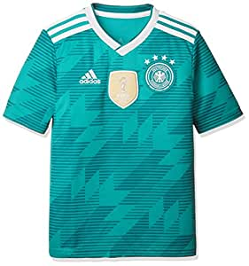 adidas Kinder Dfb Away Jersey 2018 Trikot, grün (eqt green s16/White/Real teal s10), 128