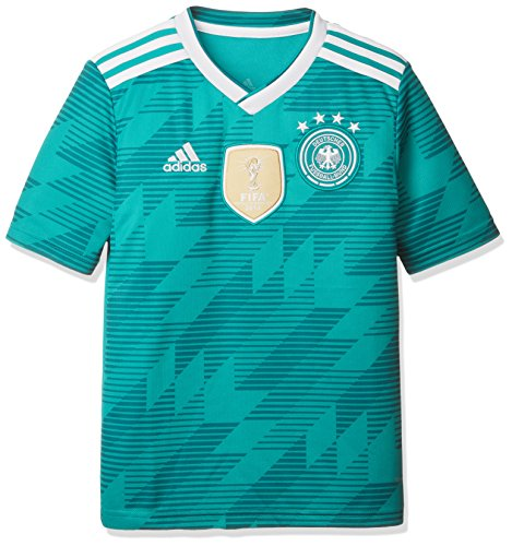 adidas Kinder Dfb Away Jersey 2018 Trikot, grün (eqt green s16/White/Real teal s10), 152 -