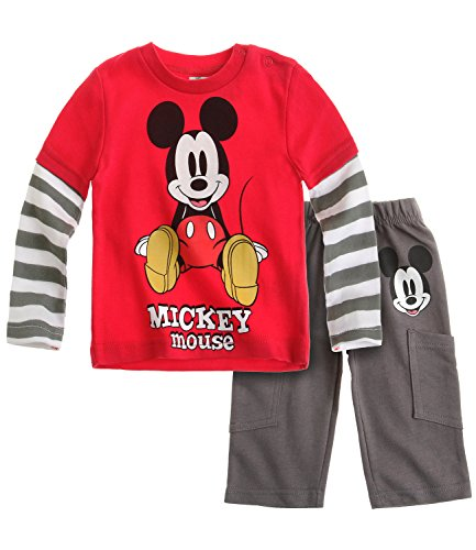 Disney Mickey Babies T-Shirt und Hose - grau Grau