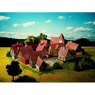 Aue-Verlag 40 x 31 x 11 cm Village with Half Timbered Buildings Model Kit