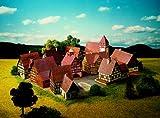 Dorf mit Fachwerkhäusern