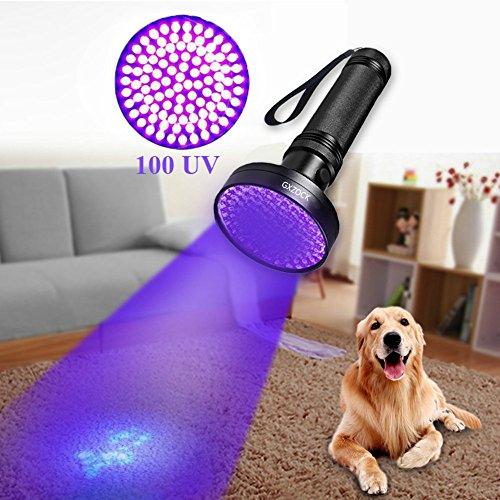 Uv-schwarzlicht-taschenlampe, Mit Uv-sonnenbrillen Superhelle 100 Led # - Uv-lampe Die Intensität