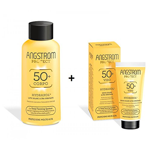 Angstrom Hydraxol SPF50+ Ultra Hydratant Lait Solaire Corps + Crème Solaire Visage