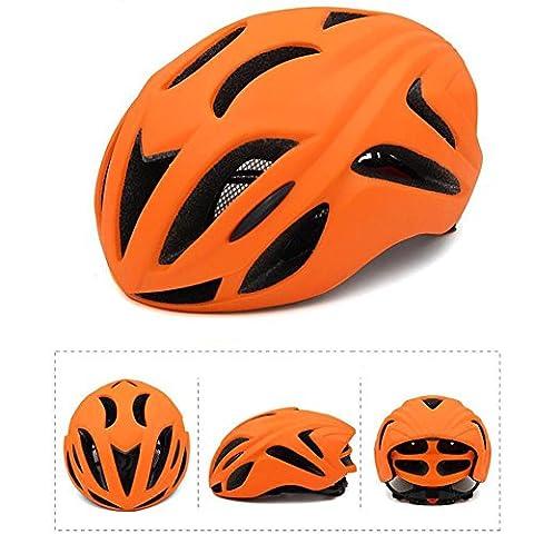 Mountain Cross Country Multifunktions-Sporthelm Ultra-Light Einteiliger Fahrradhelm Aerodynamischer Reithelm Männer und Frauen , orange