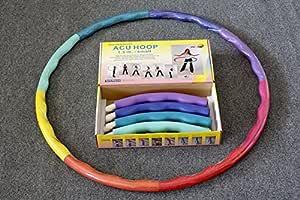 Sports Hoop Mit Gewichten Beschwerter 174 Hula Hoop Reifen Acu Hoop 2s 0 7kg Klein Für Fitness Und Trainingszwecke Dvd Unterricht Sport Freizeit