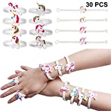 BigLion Rubber Unicorn Gifts for Girls Bracelets Wristband Bulk for Birthday Party Bags