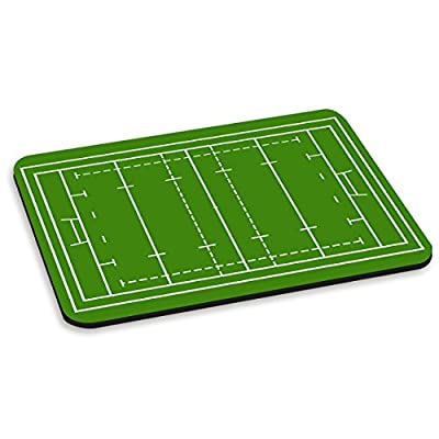 Rugby Pitch Green PC Computer Mouse Mat Pad from Gift Base