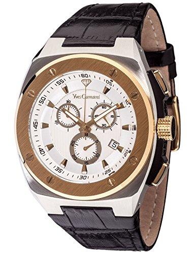 Yves Camani Quentin - Reloj para Hombre, Color Plateado/marrón