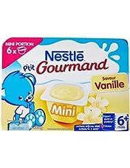 Nestlé Bébé P'tit Gourmand Coupelle de Mini Saveur Vanille dès 6 Mois 6 x 60 g