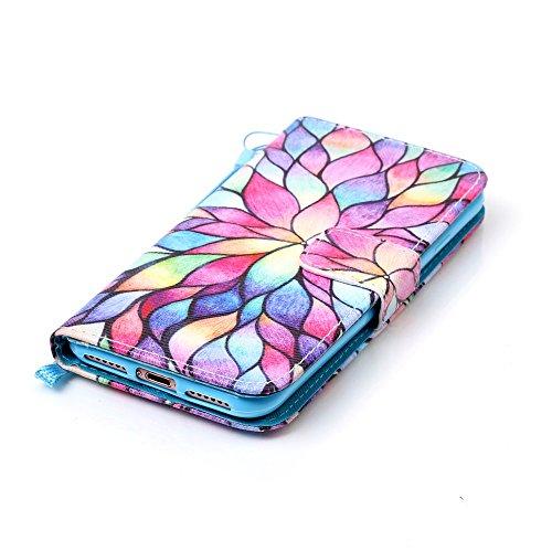 HX-439【Eine Vielzahl von Mustern】iPhone 6 Handyhülle Case für iPhone 6 Hülle im Bookstyle, PU Leder Flip Wallet Case Cover Schutzhülle für Apple iPhone 6(4.7 Zoll) Schale Handyhülle Cover im Bookstyle Farbe-2