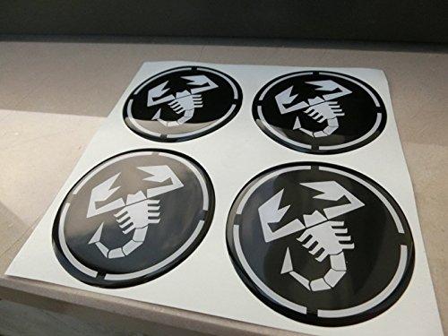 55mm noir tuning effet 3d 3m résine caches roues enjoliveurs Caps autocollants stickers pour jantes en alliage x 4pièces