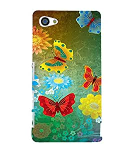 ifasho Designer Back Case Cover for Sony Xperia Z5 Compact :: Sony Xperia Z5 Mini (Butterfly Diferent Colors Multi Colour)