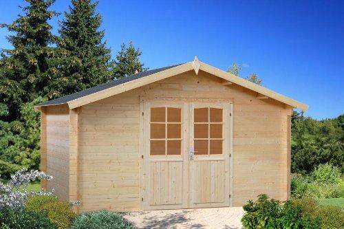 Box Häuschen von Holz Gartenhaus aus Holz 34mm-13,9mq-italfrom04