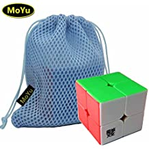 MoYu LingPo 2x2x2 Magic Speed Puzzle Cube Toy Stickerless + a Cube Bag