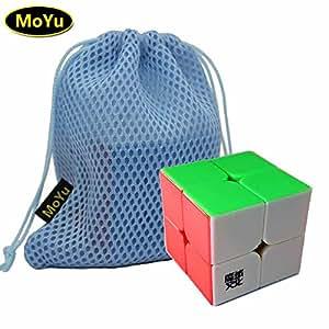 MoYu LingPo 2x2x2 Magic Speed Puzzle Cube Toy Stickerless + (a MoYu Cube Bag) moyu lingpo puzzle giocattolo stickerless cubo 2x2x2 magia velocità + (un cubo moyu borsa)
