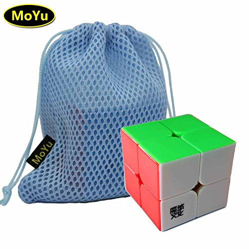 MoYu LingPo 2x2x2 Magic Speed Puzzle Cube Toy Stickerless + (a MoYu Cube Bag) moyu lingpo puzzle giocattolo stickerless cubo 2x2x2 magia velocità + (un cubo moyu borsa)