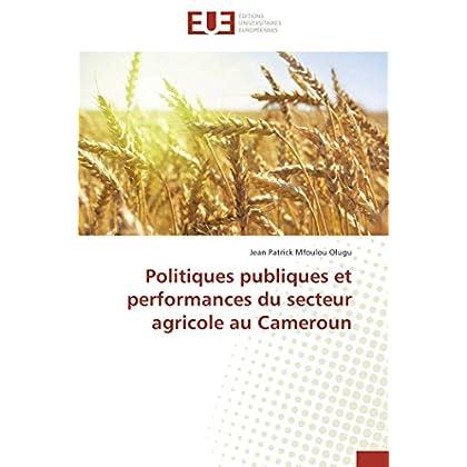 Politiques publiques et performances du secteur agricole au cameroun
