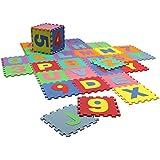 Alfombra juegos infantil set completo alfabeto y números desmontables e intercambiables - Goma EVA