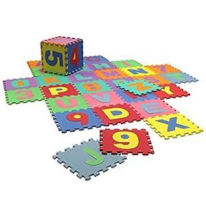 Tapis puzzle nombres alphabet mousse eva enfant jeux et jouets - Tapis mousse alphabet ...