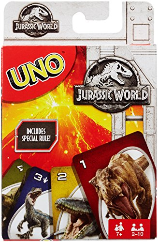 Juegos Mattel Jurassic Park Cartas UNO, (FLK66)