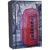 Armoire penderie souple Nomade 50 London 105x45x158 cm gris