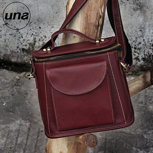 Herbst/Winter 2016 retro wenig neues Leder Rindsleder handtasche tasche Fashion Lady bag Überspannungsschutz Red-Brown