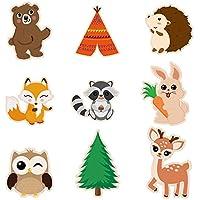 WERNNSAI Recortes de Decoraciones de Fiesta Animales del Bosque - 18 Piezas Centros de Mesa de Animales del Suministros para Fiestas para Niños Cumpleaños Baby Shower