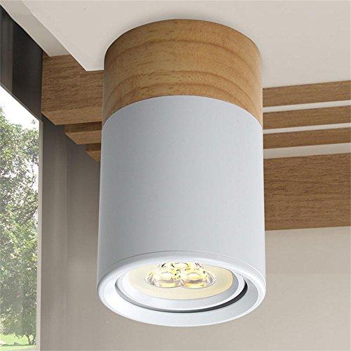 TOYM- LED Outfit Downlight Ultradünne Deckenleuchte Massivholz Rundschreiben Balkon Lampe (Farbe : (3W White))