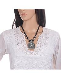 Mela Exclusive Ethnic Traditional Antique Finish Designer Necklace For Women - Oxidised