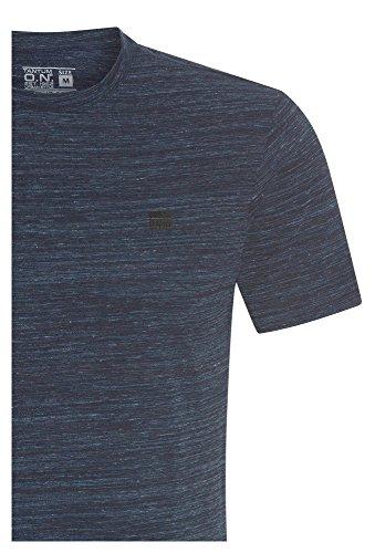 TANTUM O.N. Kurzarm T-Shirt, Herren Oberteil,Freizeit,Männer,Basic,Kurzarm,Rundhals Blau-Meliert