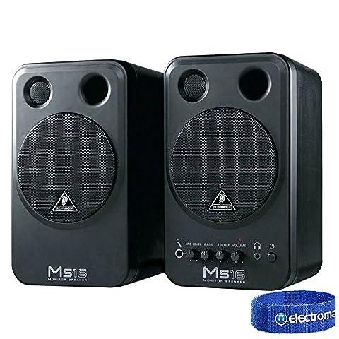 Behringer MS16 Active Studio Near Field Monitor Speakers 16W