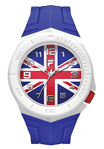 Fila-Bracciale unisex orologio Fan Sport 38-072-011FILA casual Bandiera Gran Bretagna Fan articolo