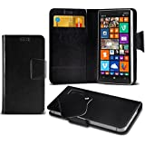 (Black) Nokia Lumia 930 Super dünne Kunstleder Saugnapf Wallet Case Hülle mit Credit / Debit Card Slots Durch Spyrox