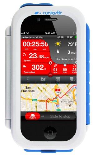 Runtastic Custodia Protettiva per Bicicletta per cellulari/Smartphone con Dimensioni Fino a 12.3 x 6 x 1 cm, Bianco