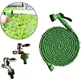 HITTIME Owner Expandable Garden Hose 100FT, Flexible Water Hose Pipe,Triple Latex Core Tube Hose Pipe Green