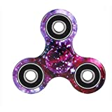 YSBER Fidget mano Spinner camuflaje juguete Ultra resistente Alta Velocidad exquisita mano Spinner(Morado)