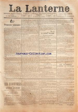 LANTERNE (LA) [No 83] du 13/07/1877 - PR...