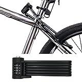 FLYDEER universale bicicletta pieghevole antifurto, Portable Heavy Duty Steel 6articolazioni bicicletta serratura antifurto password Lock con montaggio